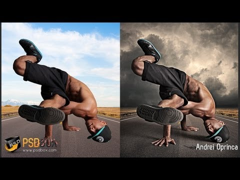 Hard Light Effects in Photoshop – (PSD Box)