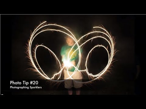 Photo Tip #20 – Sparkler Photos – Long Exposure Light Painting