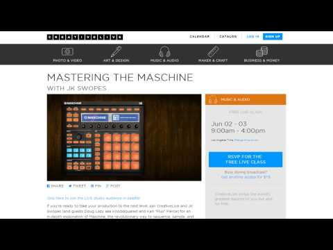 Free 2 day live Maschine event June 2-3 with Creative Live