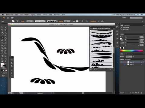 Introducing the Illustrator Brush tool and the various different brush types