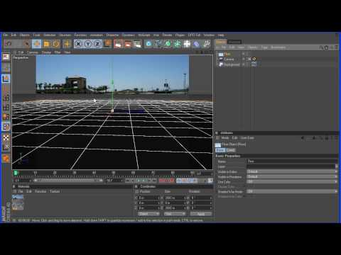 Cinema 4D Tutorial 2 – Basic Compositing – Part 1 HD