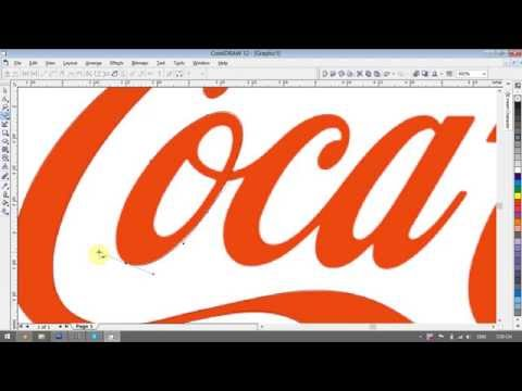 Cocacola logo design tutorials in CorelDRAW – Guide for Beginners