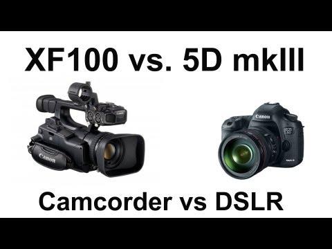 DSLR vs. Camcorder (semipro) review. Canon 5D mkIII vs XF100