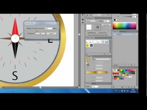 Adobe Illustrator CS6 Compas | Speed Art