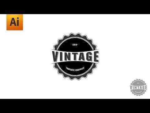 Adobe Illustrator Tutorial – Vintage Logo Graphic Design