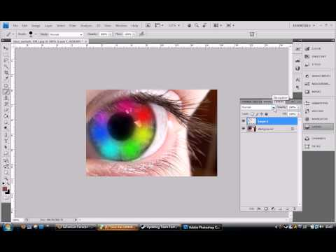 Photoshop CS5 Rainbow Eyes Effect – Tutorial