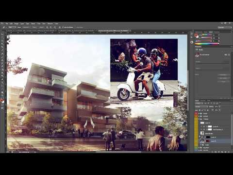 Architectural Rendering Tutorial – Post Production in Photoshop – Inserting People