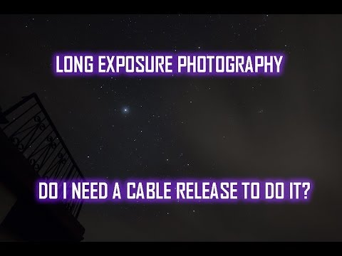 Long exposure photography – Do I need a cable release?