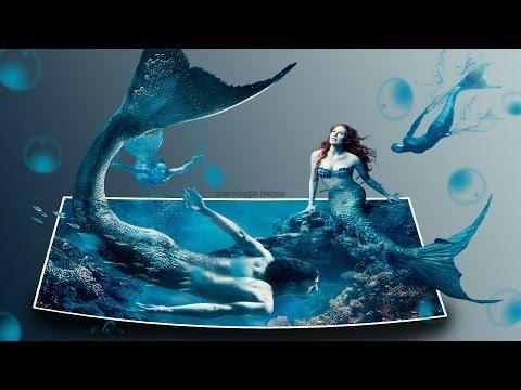Graphic Design Time Lapse – Mermen and Mermaid