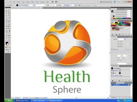 Adobe Illustrator 3D Logo Design Tutorials cs5 Health Sphere logo