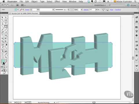 Adobe illustrator Tutorial 89- Mech Logo 3D Version