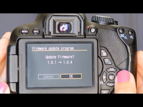 How to Apply a Canon DSLR Firmware Update to Your Camera