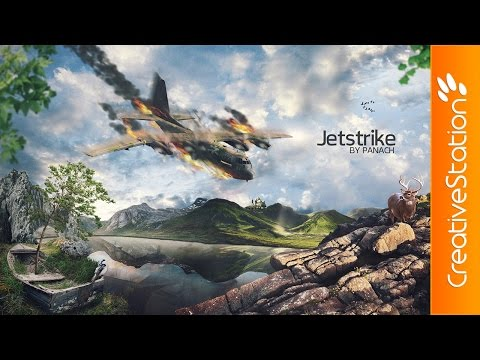 JetStrike – Speed art (#Photoshop) | CreativeStation