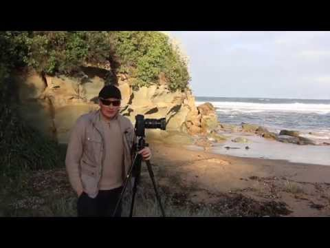 beach photos, long exposure foggy rocks effects and fisheye images