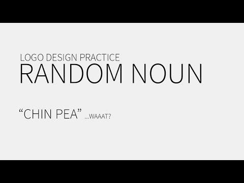 "Logo Design Practice – Random Noun – ""Chin Pea"""