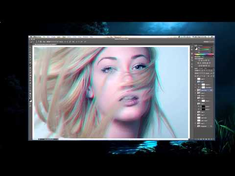 Anaglyph 3D. Photoshop Tutorial Video. [Free photoshop]!
