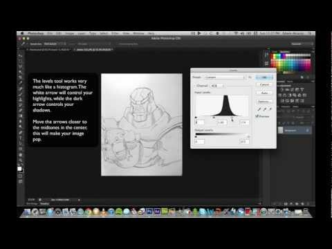 Adobe Photoshop – Graphic Design Tutorial – Drawings to Illustrations (Beginner)