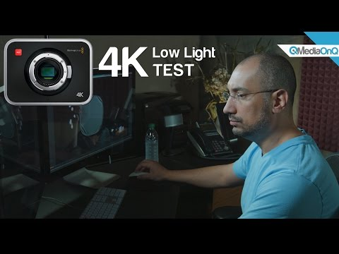 4K Blackmagic Production Camera BMPC4K Low Light Test