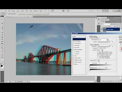 Photoshop Tutorial: How To The 3D Anaglyph Effect.