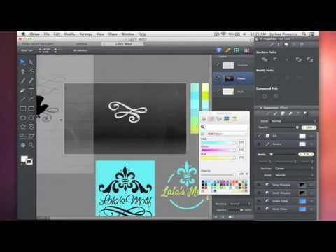 Vector Speed Art – Lala's Motif Logo Design