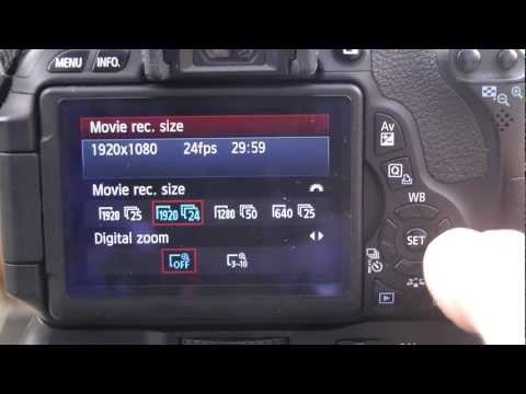 Canon T3i 600D  dslr video digital zoom