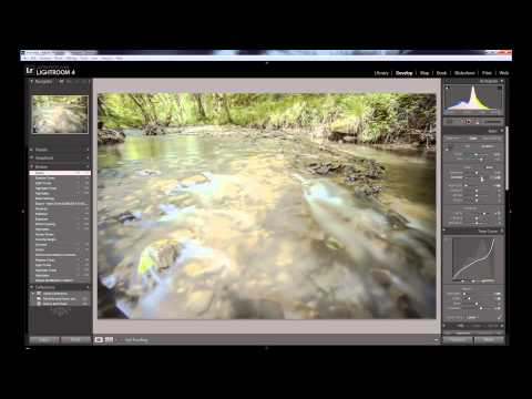 Long exposure photography editing in Adobe Lightroom 4
