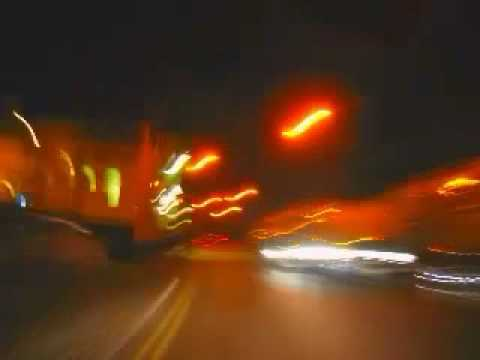 Derby night driving, long exposure time lapse photography