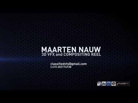3D/VFX/Compositing Demoreel 2014 Maarten Nauw