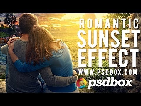 Create a Realistic Sunset Effect in Photoshop (PSD Box)