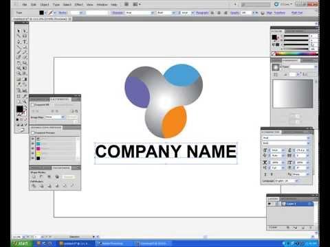 How to create 3D Logo Design   Adobe Illustrator cs5 Logo 1