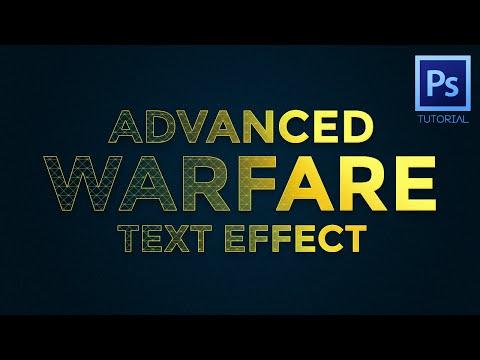 Photoshop Tutorial – Advanced Warfare Text Effect