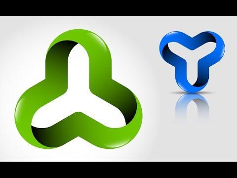How to create 3D logo design (optical illusion) in Adobe Illustrator CS5 HD1080p