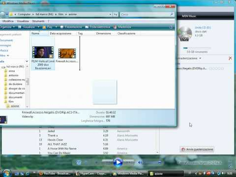 masterizzare dati o film su dvd con windows media player