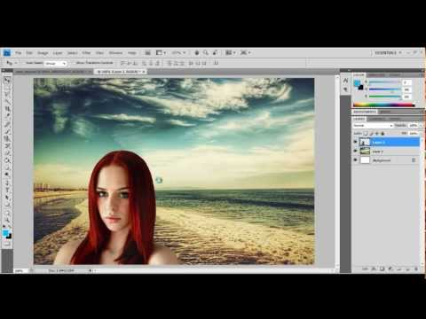 Adobe Photoshop tutorial – How to crop (cut out) a person and put onto another background