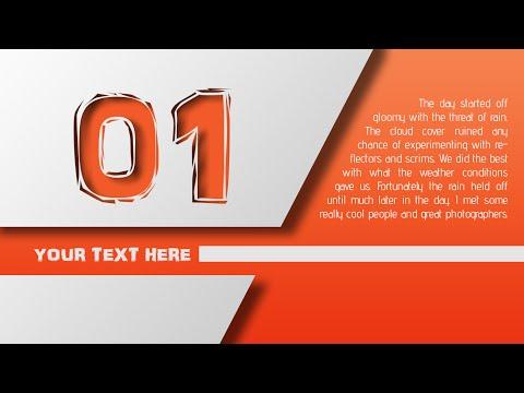 Photoshop Tutorial | Graphic Design Orange Style
