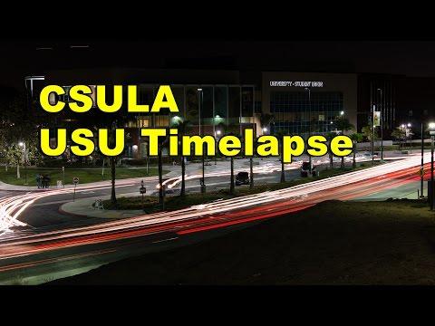 CSULA USU Building time lapse (long exposure, night)