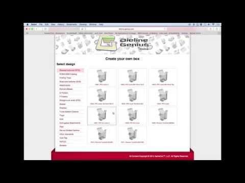 Online Box Packaging PDQ POP Display Temples Die Lines Dieline
