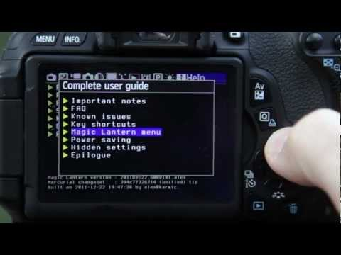 Canon T3i 600D: Magic Lantern for DSLR Movies – an intro (Part2)