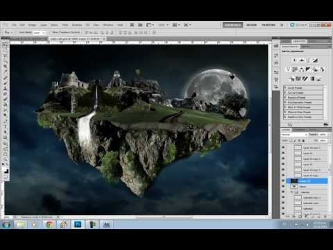 Matte Painting and Compositing – make a floating island -