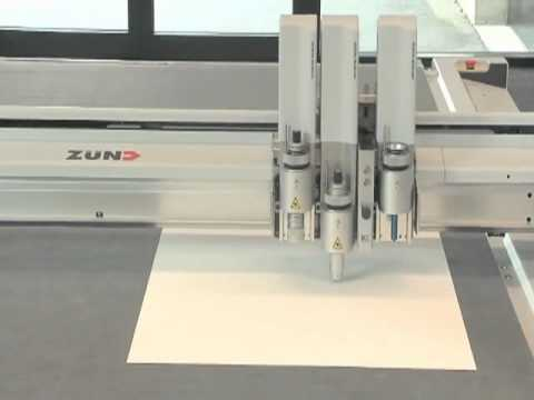 Zund G3 Sample Cutter Sample Maker Cutting a Box