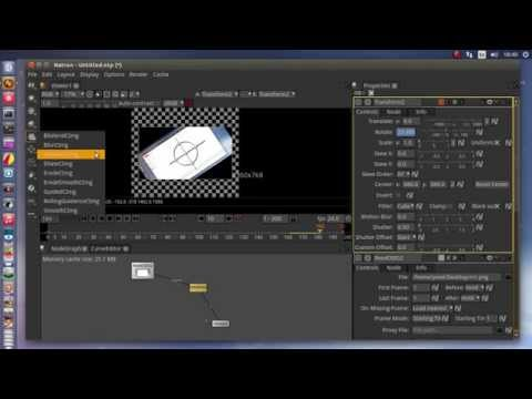 Natron nodal compositing software on Ubuntu 15.04 linux