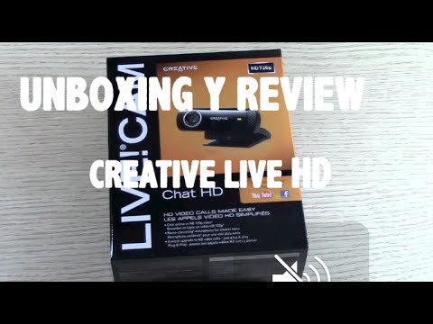 Unboxing y Review WebCam Creative Live HD