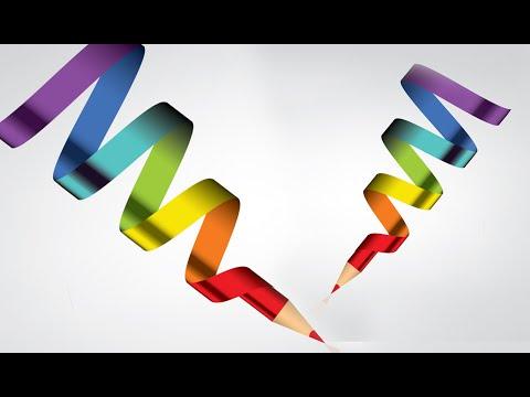 Illustrator Tutorial | Graphic Design | 3D logo (pencil)