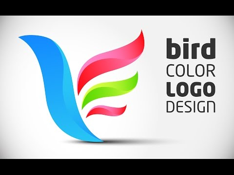 How to create Logo Design (color bird) in Adobe Illustrator CS5 HD1080p