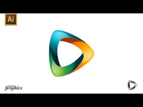 Adobe Illustrator Tutorial – Media / Abstract / Colorful Logo Graphics / Logo Design