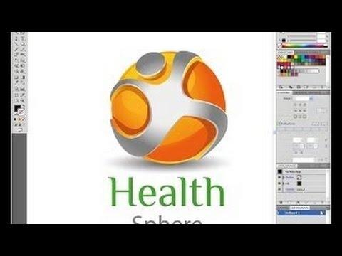 Adobe Illustrator 3D Logo Design Tutorials cs5 Health Sphere logo