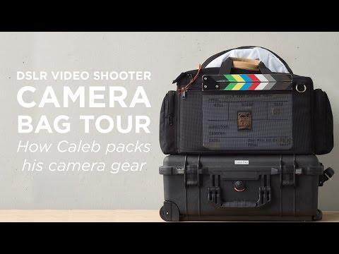 Camera Bag Setup for DSLR Video Cameras