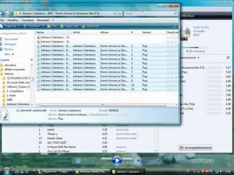masterizzare cd audio con windows media player