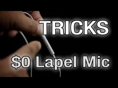 Filmmaking Tricks – The $0 Lapel Mic and Recorder  – The Basic Filmmaker Ep 66