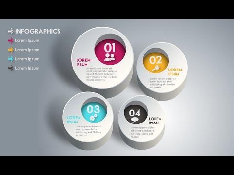 Illustrator CC Tutorial | 3D Graphic Design | Infographic Design 04